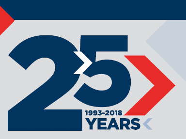 25 years graphic